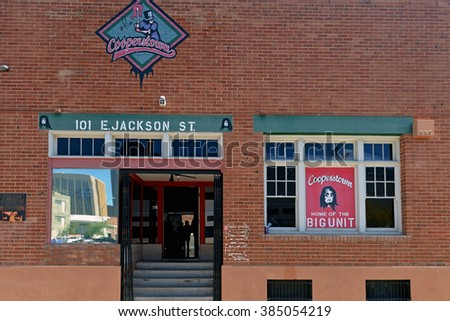 PHOENIX, AZ, USA - FEB 27, 2016:  Cooperstown is a popular restaurant in downtown Phoenix, not far from Chase Field, opened by, and named after, Alice Cooper together with MLB pitcher Randy Johnson.  - stock photo