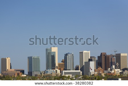Phoenix downtown skyline, AZ - stock photo