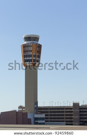 Phoenix Skyharbor airport traffic control tower - stock photo