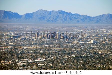 Phoenix skyline - stock photo