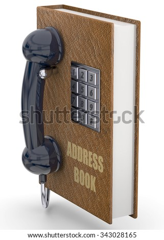 Phone and address book concept - stock photo