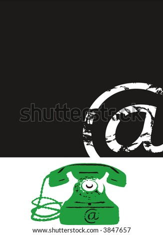 phone and internet sign - at - stock photo