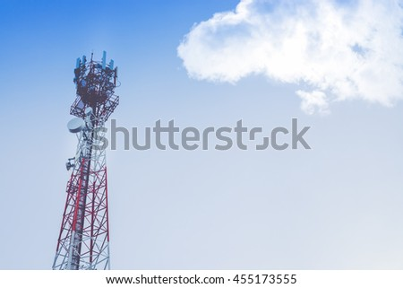 Phone antenna on the mountain.