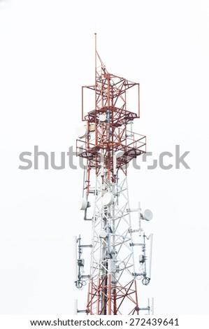 Phone Antenna on white background - stock photo