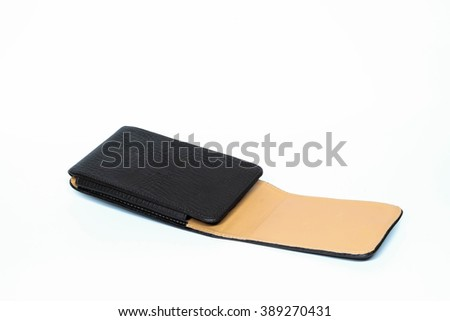 Phone bag on a white background  - stock photo