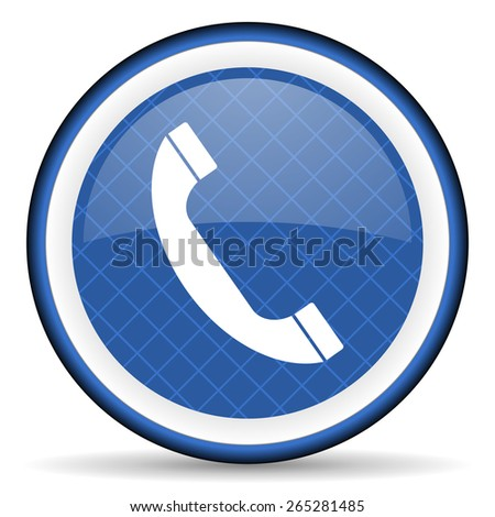 phone blue icon telephone sign