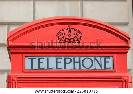 Phone booth, London - stock photo