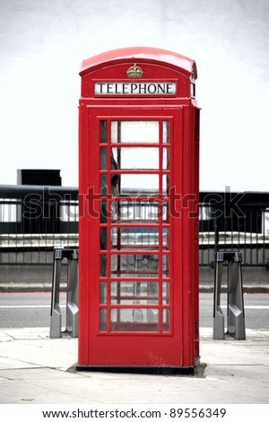 phone box - stock photo