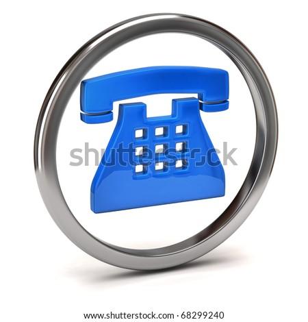 phone button - stock photo