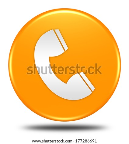 phone button isolated  - stock photo