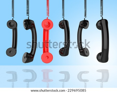 Phone Call Representing Contact Us And Helpdesk - stock photo