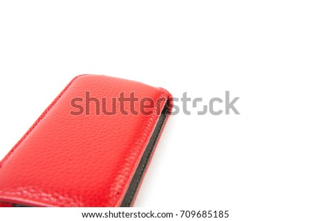 Phone case isolated on white background