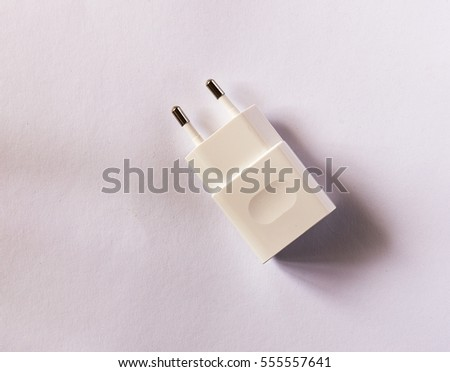 phone charger on white background