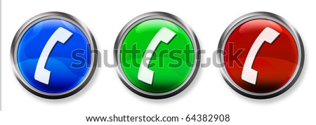 Phone 3-D RGB Buttons - stock photo