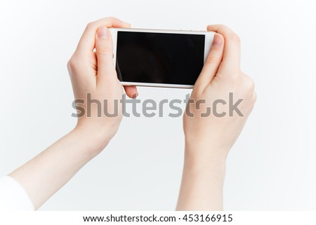 phone, hand, isolated