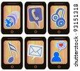 Phone icon massage isolated on white - stock photo