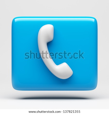 Phone Icon with clipping path  - stock photo
