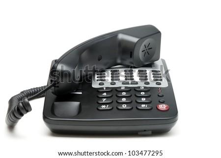 Phone isolated on white. Modern phone, high detailed photo. - stock photo