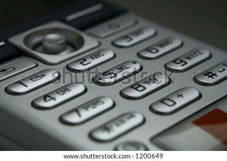 Phone keyboard - stock photo