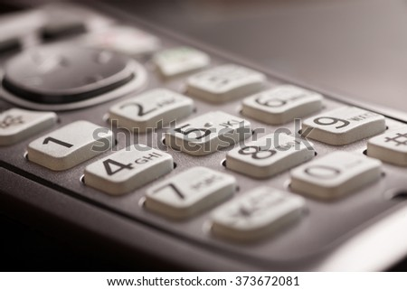 phone keypad with letters close up macro shot selective focusing