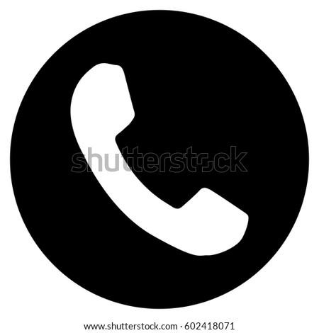 Phone Number Raster Icon Flat Black Stock Illustration 602418071