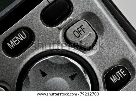 Phone off button - stock photo