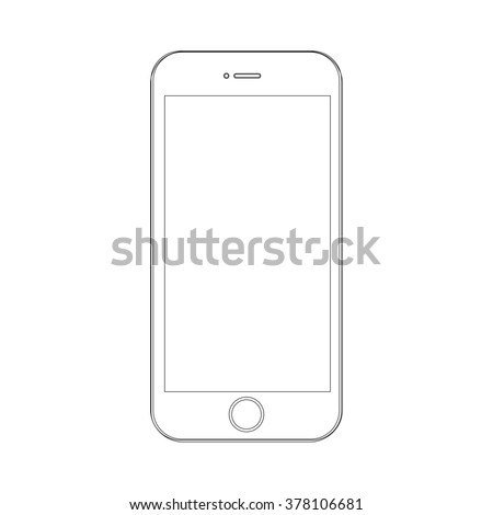 Phone on a white background  with lines - stock photo