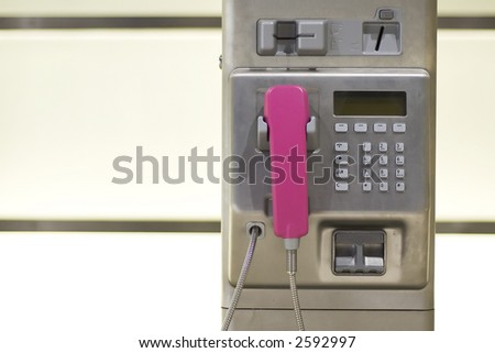 Phone on wall - stock photo