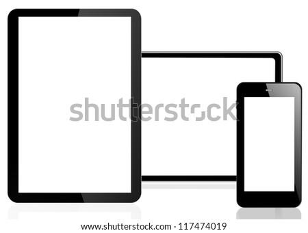 phone on white background - stock photo