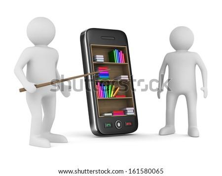 phone on white background. Isolated 3D image - stock photo
