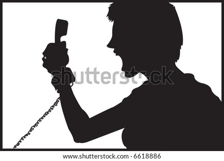 Phone Rage - stock photo