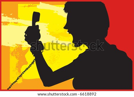 Phone Rage 2 - stock photo