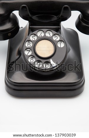 phone retro made of bakelite - stock photo
