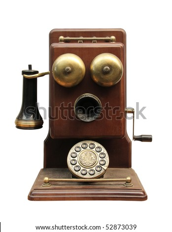 Phone sets 20 century, from the beginning. - stock photo