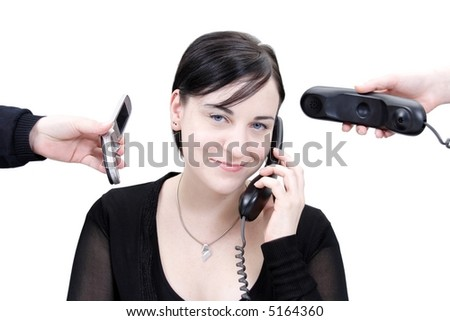 phone stress 14 - stock photo