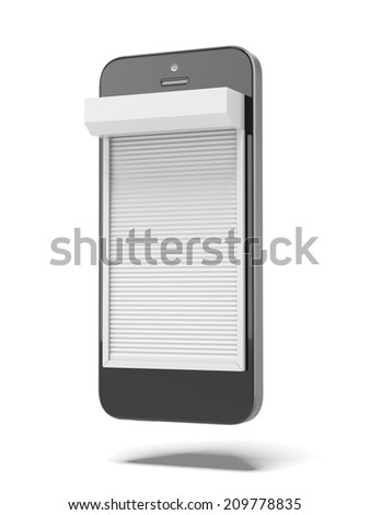phone with Blinds - stock photo