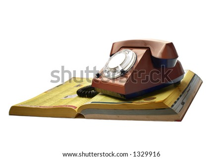 Phone with the phonebook - stock photo