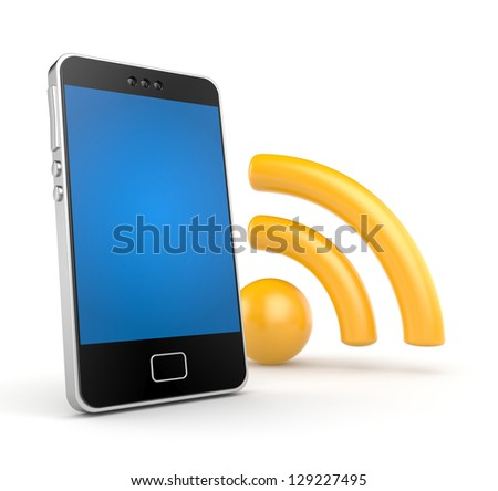 Phone with Wi-Fi - stock photo