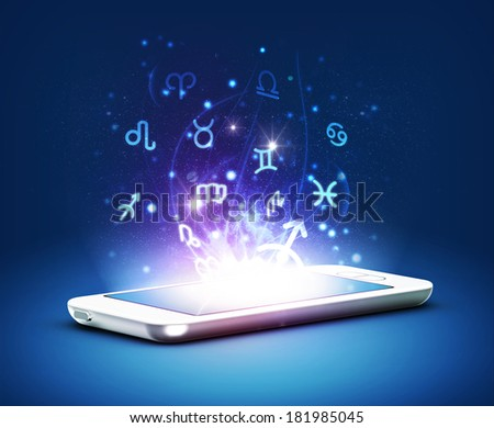 Phone zodiac - stock photo