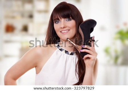 Phoning with shoe