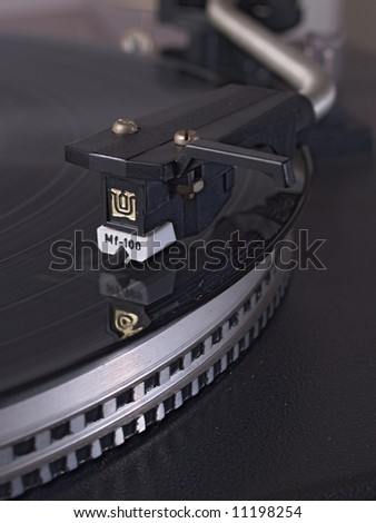 Phonograph in Close-up - stock photo
