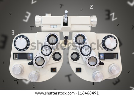 Phoropter - stock photo