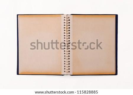 photo album isolated on white background - stock photo