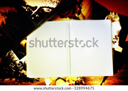 Photo Album with copy space. Great details! - stock photo