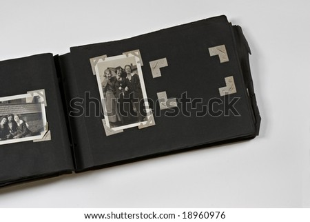 Photo Album with Trio of Woman - stock photo