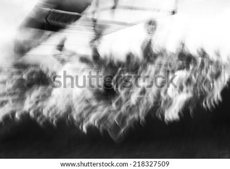 Photo art, de-focused silhouette in black and white colors - stock photo