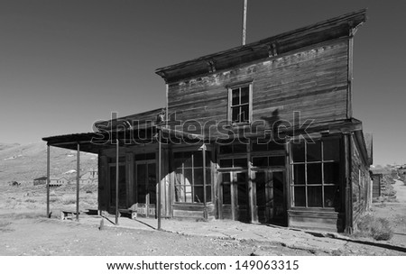 photo at bodie national state park, ca, usa