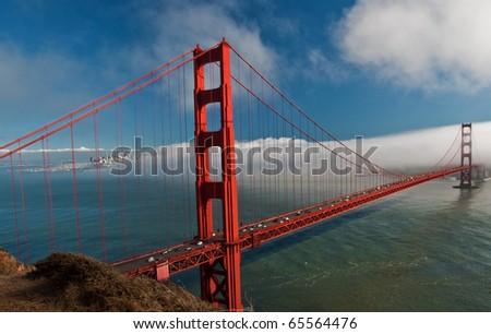 photo beautiful golden gate bridge in san francisco - stock photo