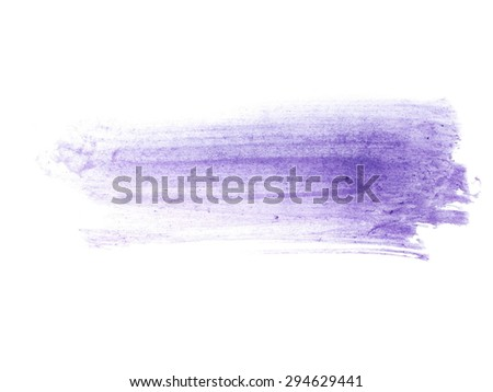 photo blue watercolor hand painted brush strokes isolated on white background, grunge paper texture, (with clipping path) - stock photo