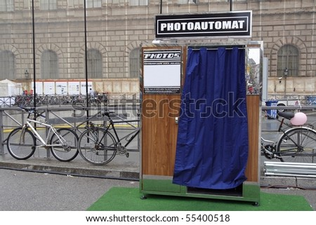 Photo booth - stock photo
